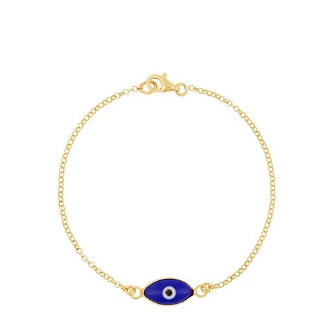 Little Oval Eye Gold-Plated Glass Bracelet