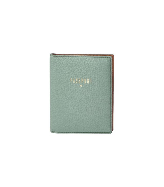 Fossil RFID Pebbled Leather Passport Case