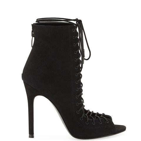 Ginny Suede Lace-Up Bootie