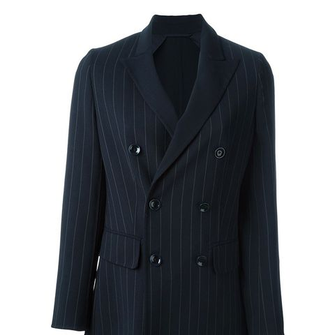 Pinstripe Double Breasted Blazer