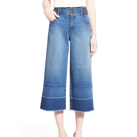 High Rise Denim Culottes