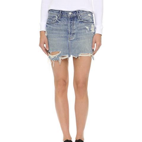 Vagabond Mini Fray Skirt