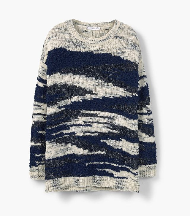 Mango Textured Cotton Sweater