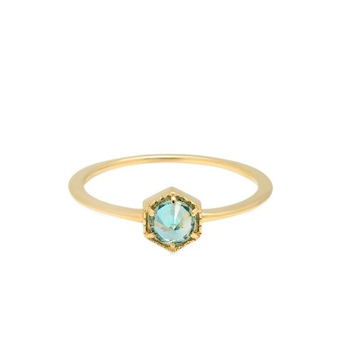 Blue Full Bloom Ring