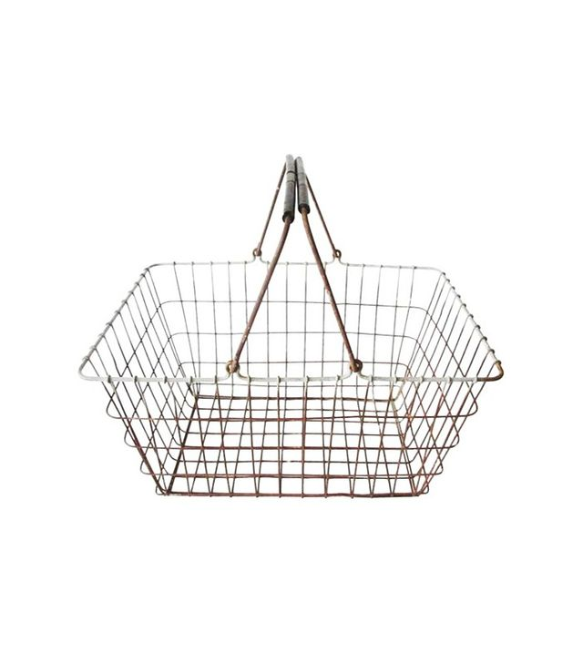 Chateau et Jardin French Galvanized Wire Basket