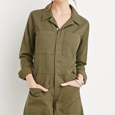 Buttoned Utility Romper