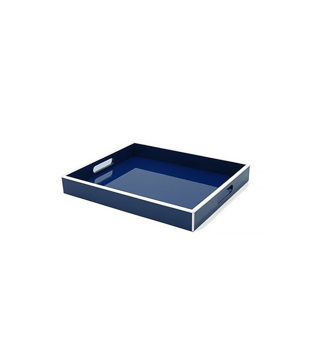 Elle Lacquer Serving Tray Navy Blue
