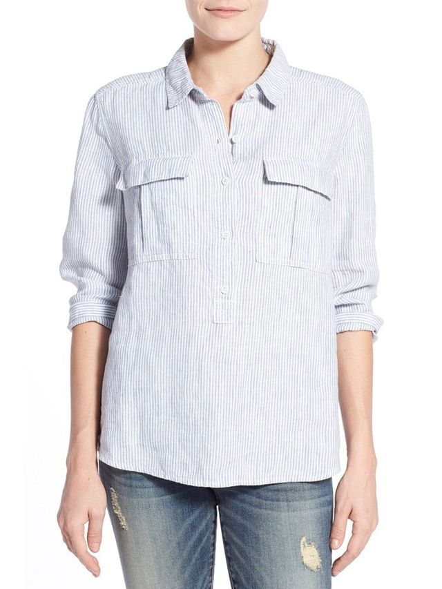 Caslon Print Three Quarter Sleeve Shirt