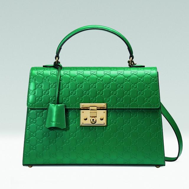 Gucci Padlock Signature Top Handle in Emerald Green