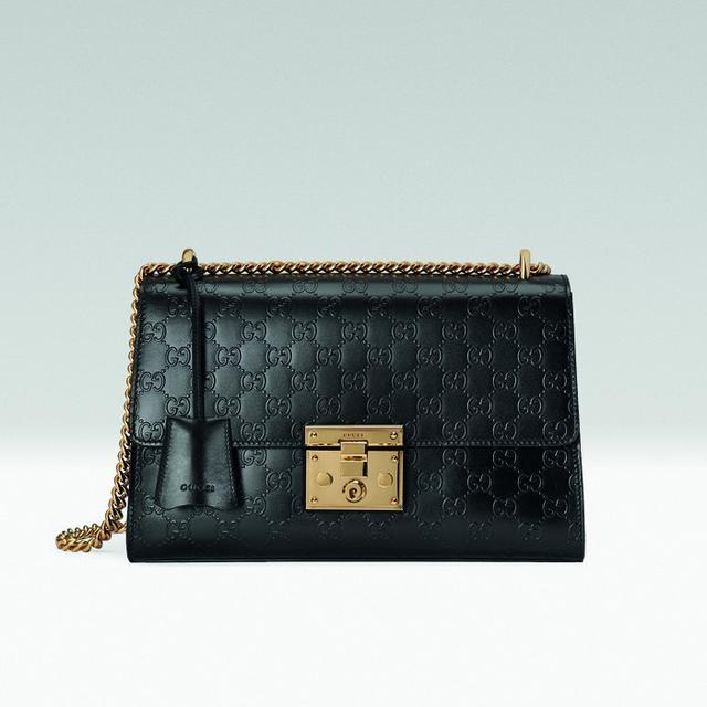 Gucci Padlock Signature Shoulder Bag in Black