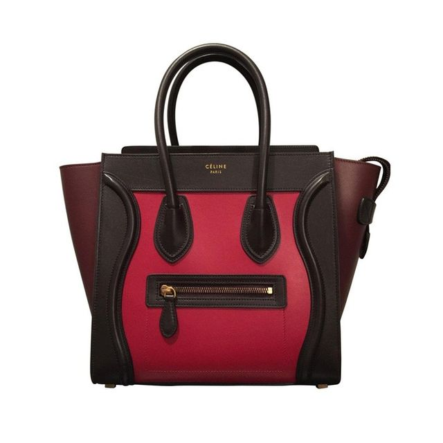 Céline Luggage Leather Bowling Bag