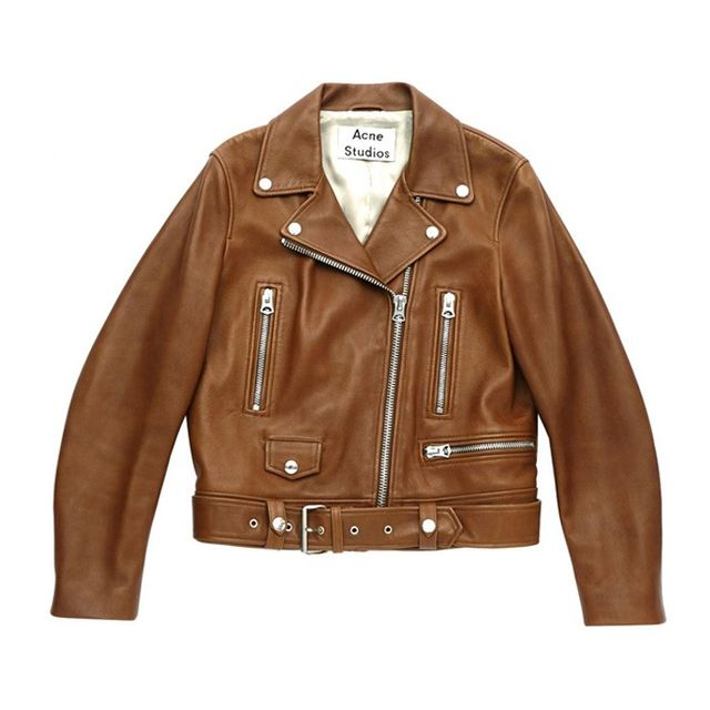 Acne Brown Biker Jacket