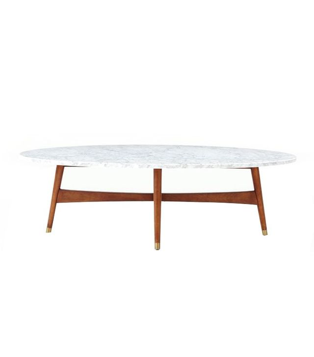 West Elm Midcentury Oval Coffee Table