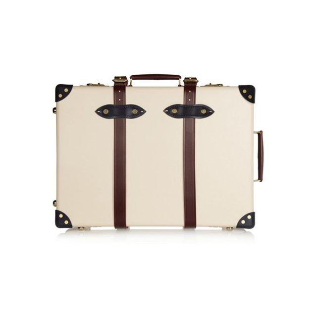 "Globe Trotter The Goring 21"" leather-trimmed fiberboard travel trolley"