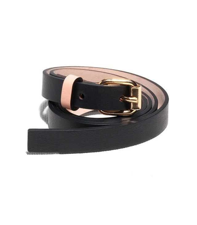 & Other Stories Two Tone Slender Leather Belt