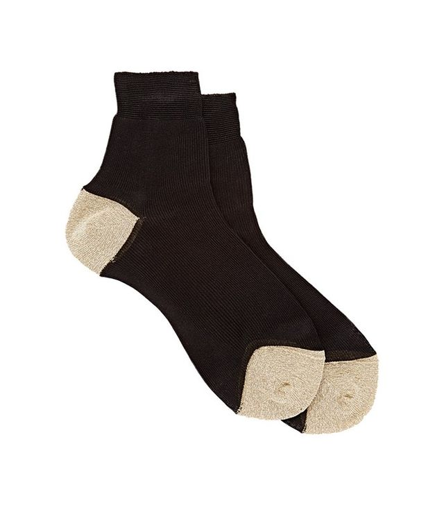 Maria La Rosa Metallic-Trim Socks