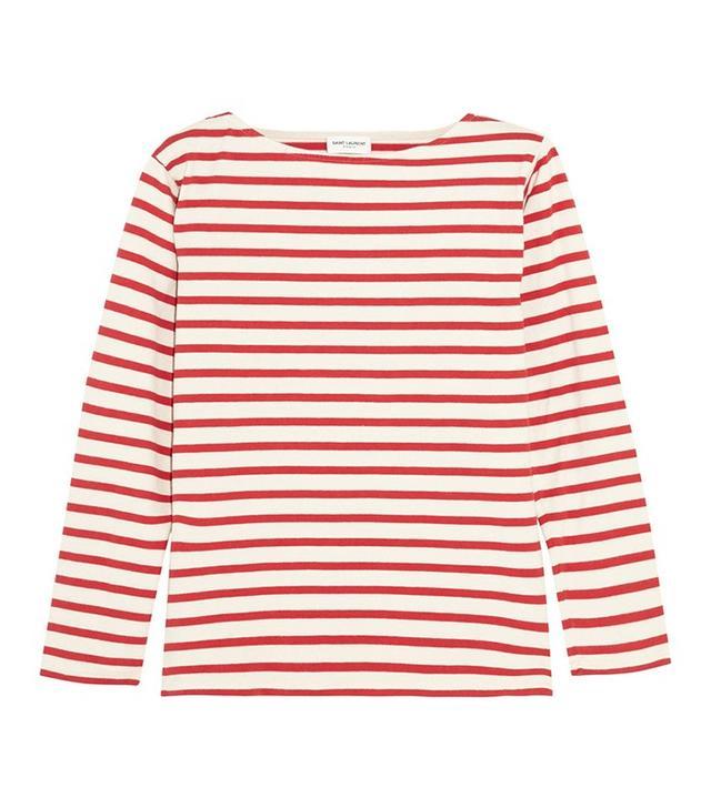Saint Laurent Striped Cotton-Jersey Top
