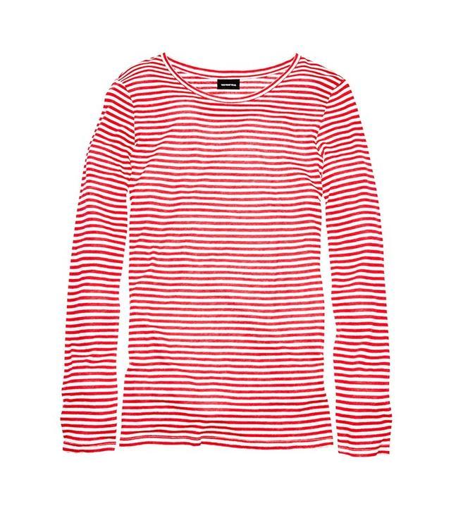 Who What Wear Long Sleeve Stripe Tee