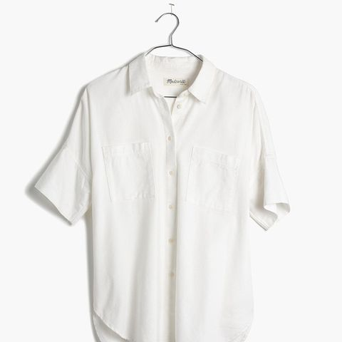 White Cotton Courrier Shirt