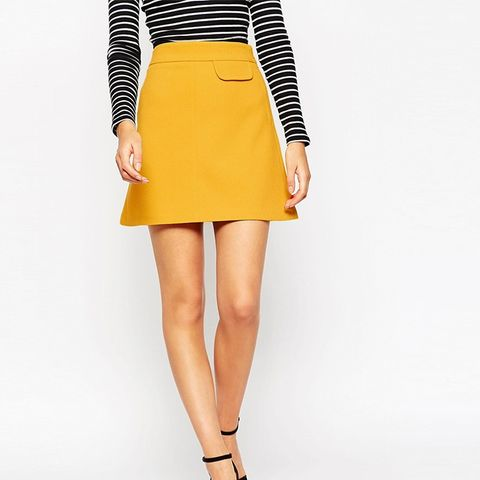 A-Line Skirt With Pocket Detail
