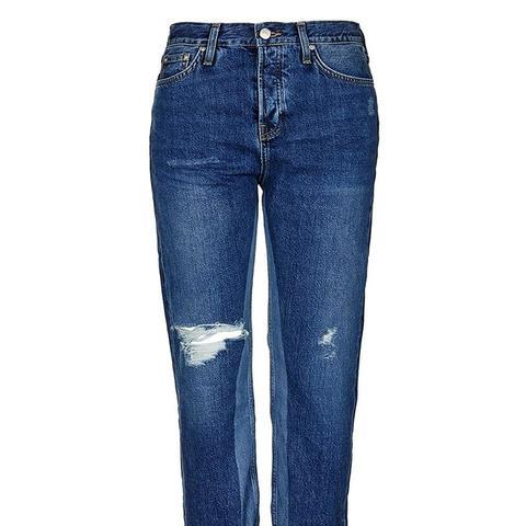 Moto Laser Detail Boyfriend Jeans