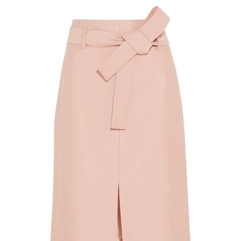 Leslie Wool and Silk-Blend Faille Skirt