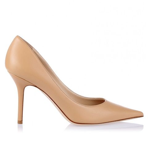 Agnes Nude Leather Pump