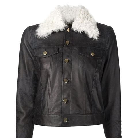 Shearling Collar Denim Jacket