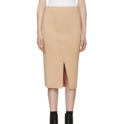Tan Neoprene Holly Skirt