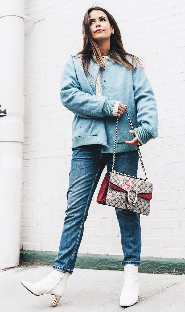 Chunky Sweater + Cuffed Jeans