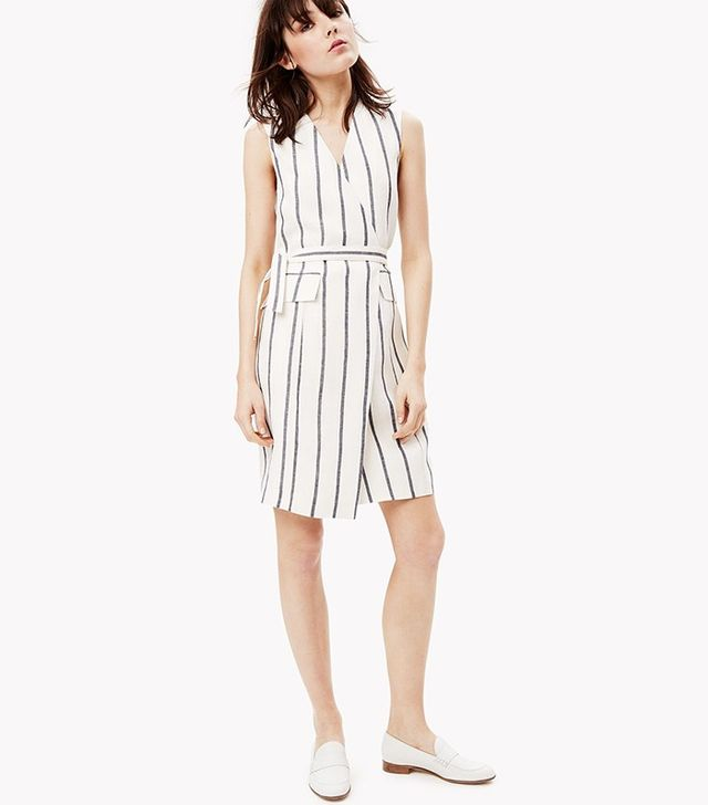 Theory Linen Wrap Dress