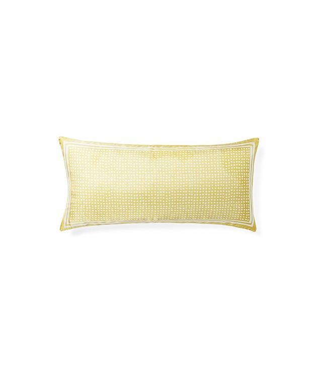 Serena & Lily Silk Dot Lumbar Pillow