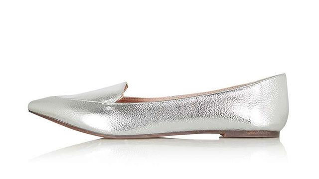 Topshop Van Stitch Point Ballet Shoe