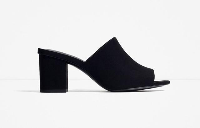 Zara High-Heel Backless Sandals