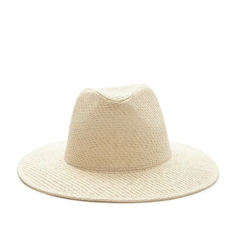 Wide-Brim Straw Fedora