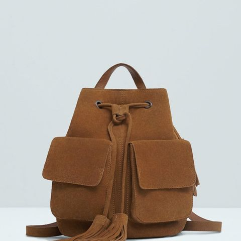 Pocket Leather Backpack