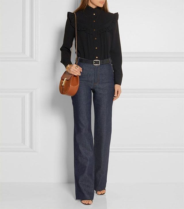 Vanesssa Seward Bassette High-Rise Wide-Leg Jeans