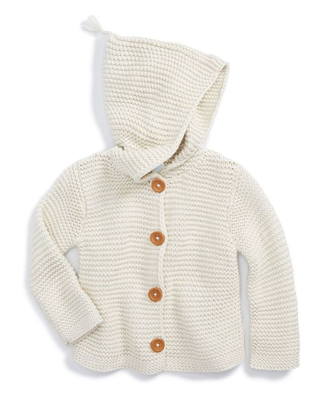 Stem Baby Organic Cotton Hooded Cardigan (Baby)