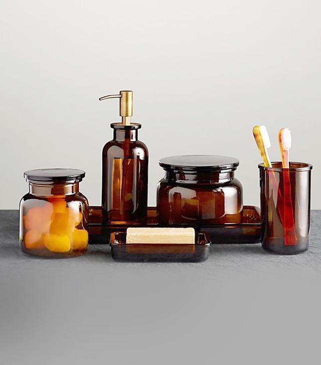 Restoration Hardware Pharmacy Accessories Amber Glass