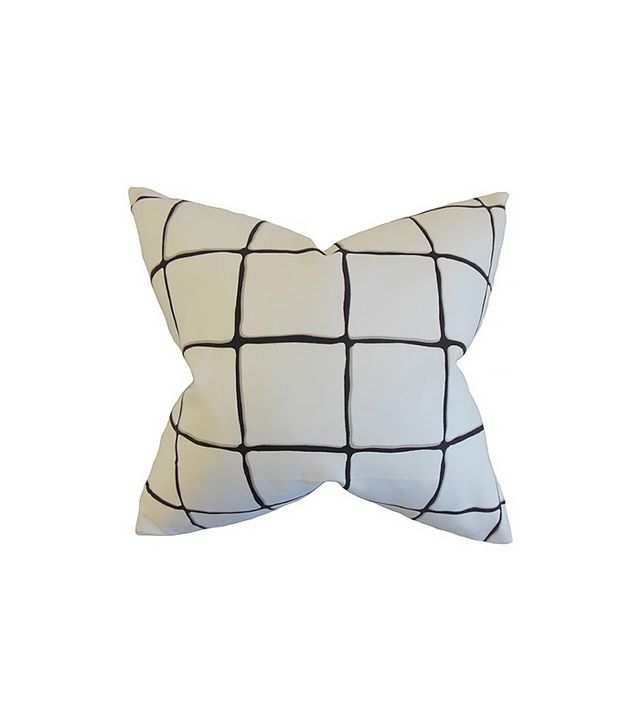 The Pillow Collection Owen Checked Cotton Throw Pillow