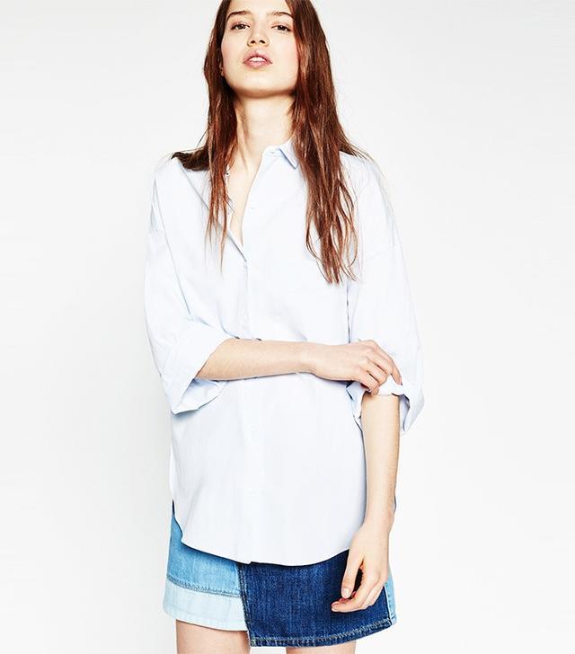 Zara Oversized Poplin Shirt