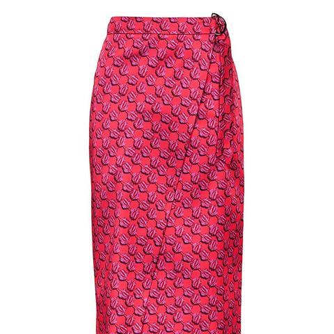 Lustre D-Ring Midi Skirt