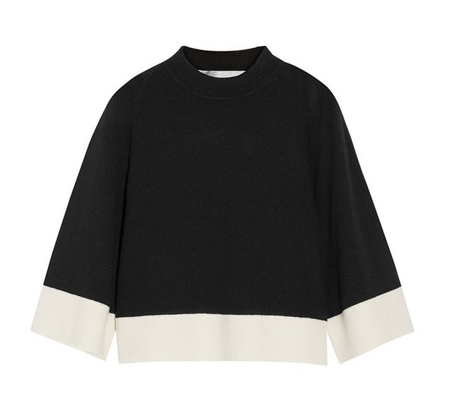 Victoria by Victoria Beckham Cropped Wool and Cashmere-Blend Sweater