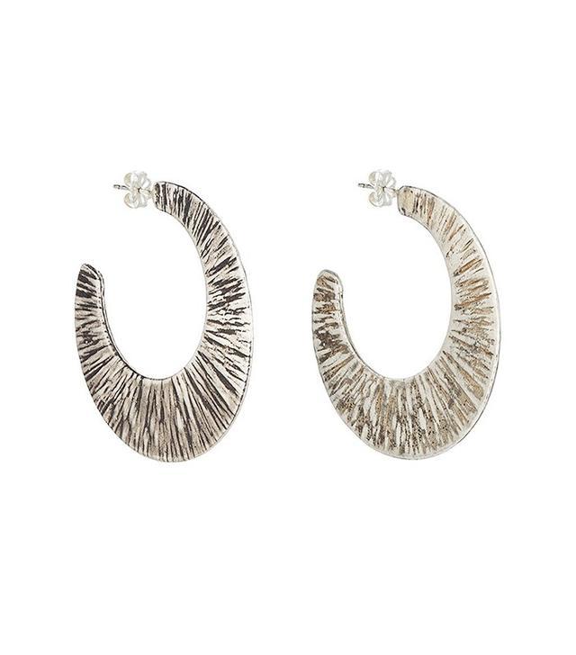 Simon Miller x Rebecca Pinto Stone Hoop Earrings