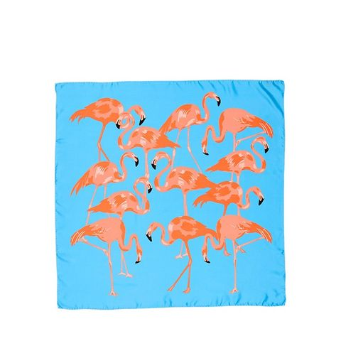 Flamingo Flock Silk Scarf