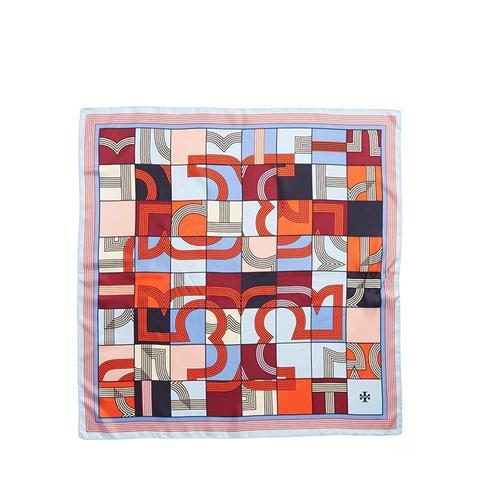 Logo Puzzle Silk Square Scarf