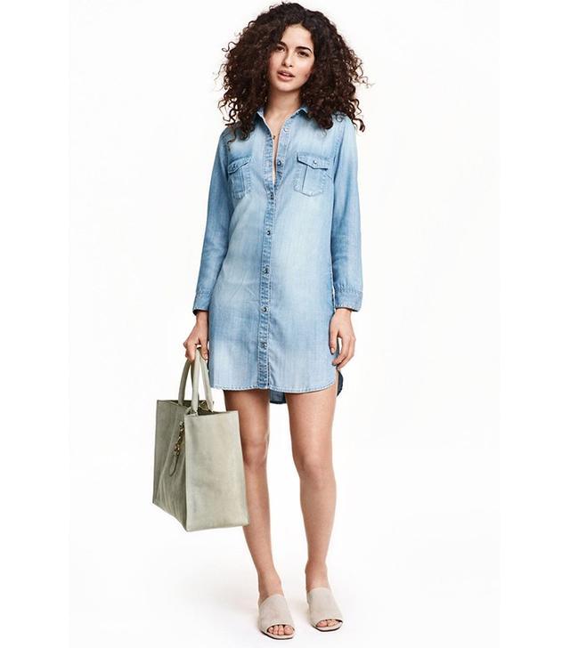 H&M Long Denim Shirt