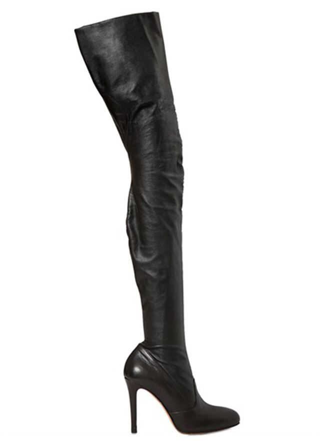 Strategia 100mm Faux Leather Over the Knee Boots