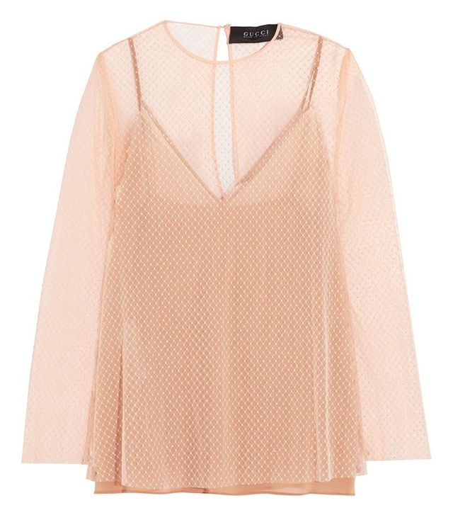 Gucci Net Tulle Top