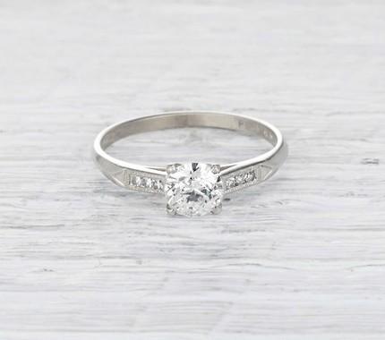 Erstwhile 0.53-Carat Art Deco Engagement Ring